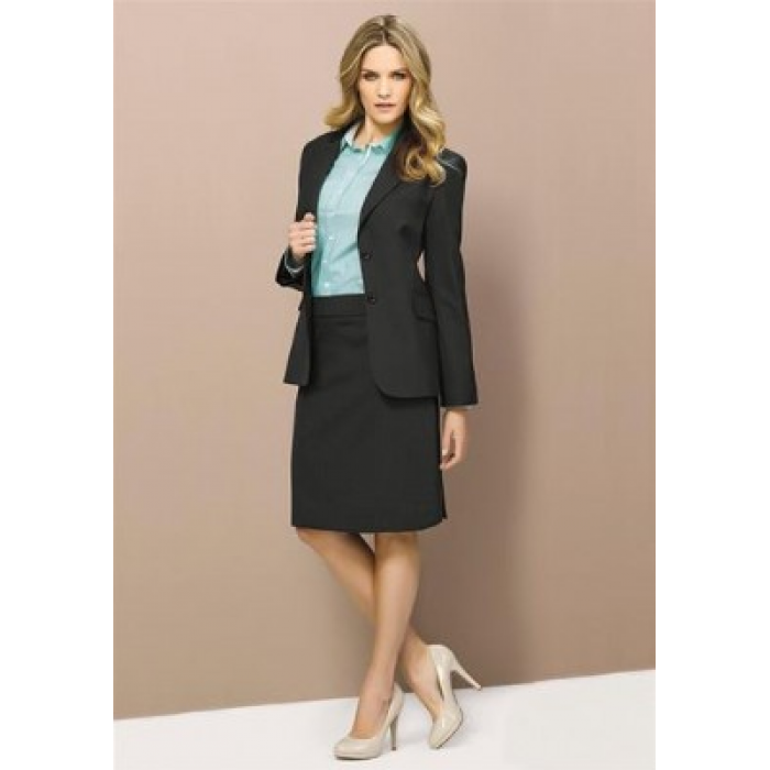 Wool Stretch Longline Jacket - Ladies