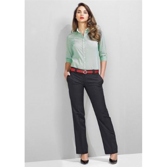 Pinstripe Hipster Fit Pant - Ladies