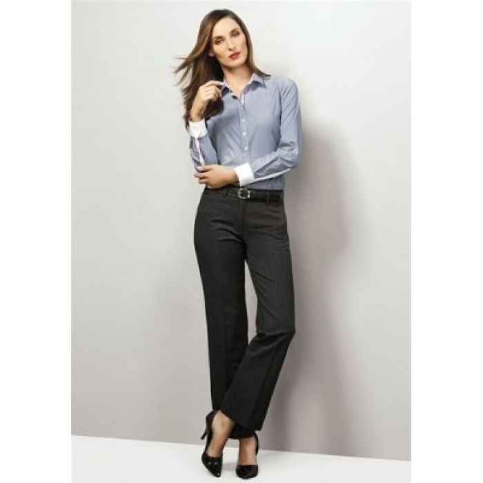 Pinstripe Relaxed Fit Pant - Ladies