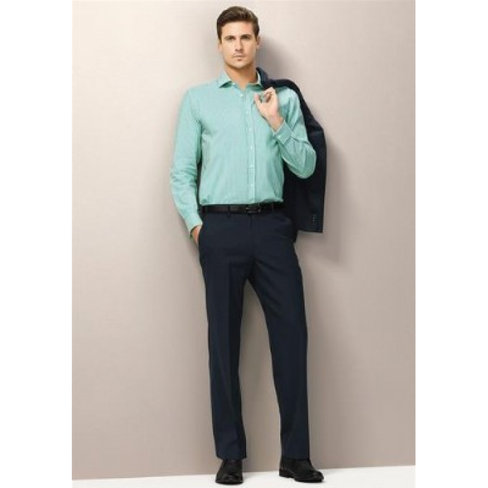 Wool Stretch Mens Flat Front Pant