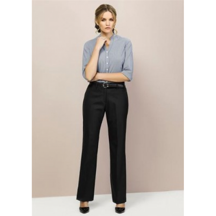 Wool Stretch Relaxed Pant - Ladies