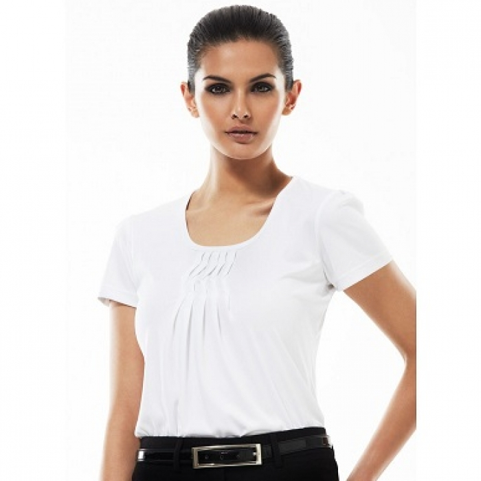 Deco Pleat Ladies Top