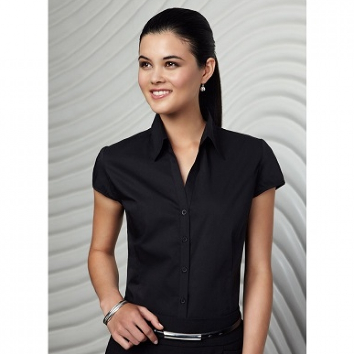 Metro Cap/S Stretch Shirt - Ladies