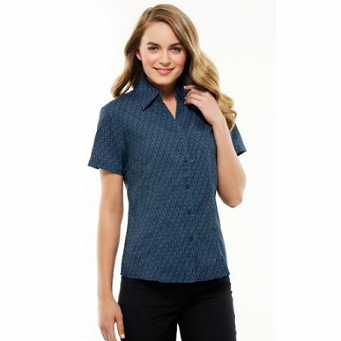 Oasis Printed S/S Shirt - Ladies
