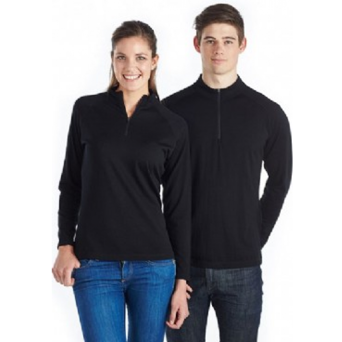 Zip Neck Merino - Mens