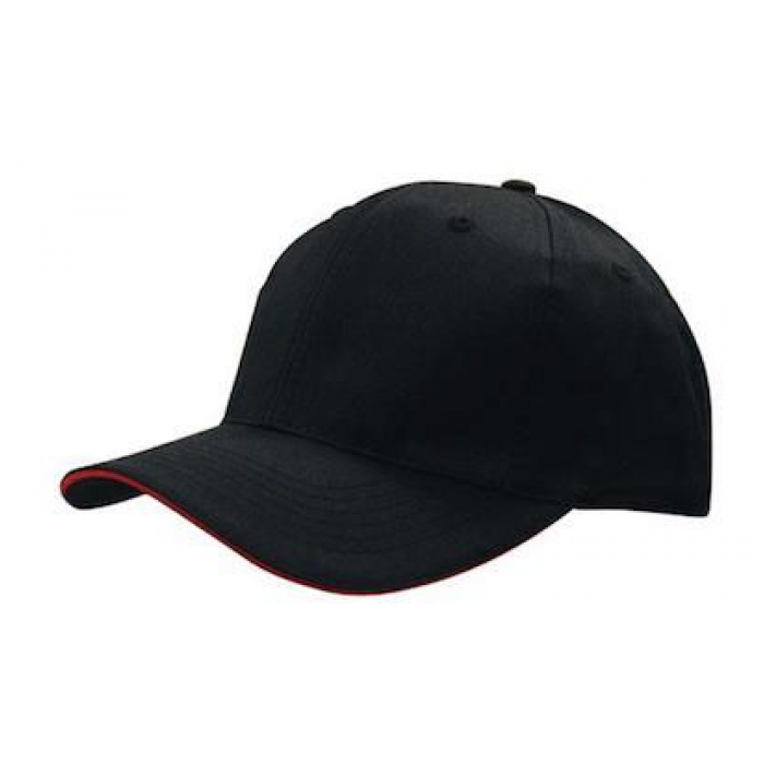 Breathable Poly Twill Cap - With Sandwich Trim