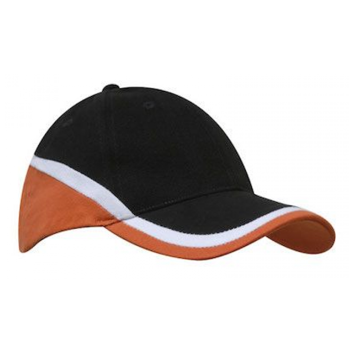 Brushed Heavy Cotton - Tri Colour Cap