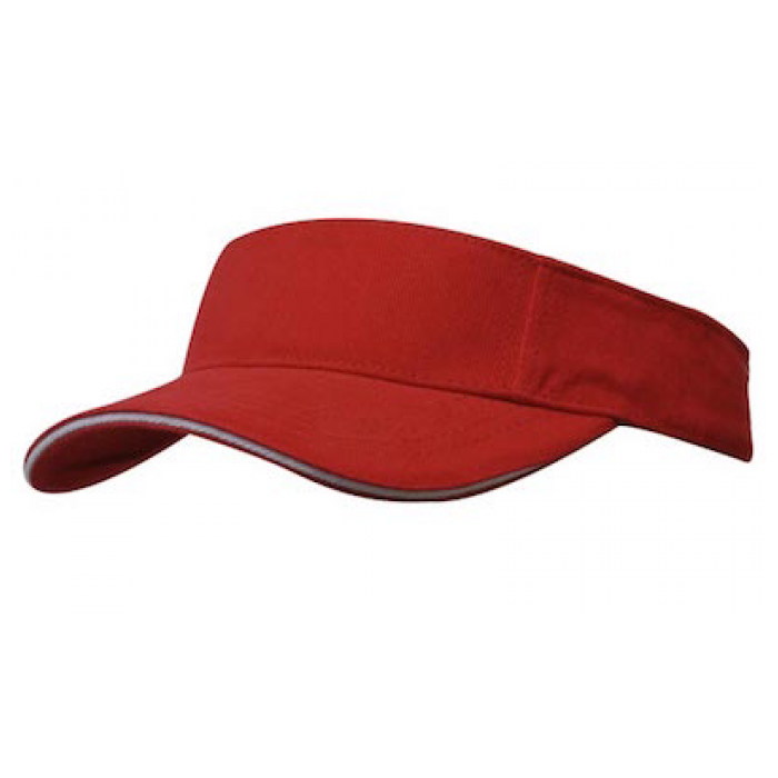 Brushed Heavy Cotton Visor - Plain or with Sandwich