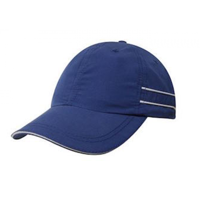 Microfibre Sports Cap - With Piping & Sandwich