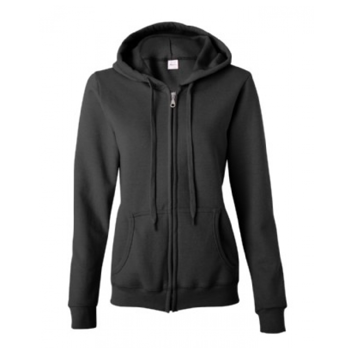 Full Zip Hooded Sweatshirt-Heavy Blend - Ladies