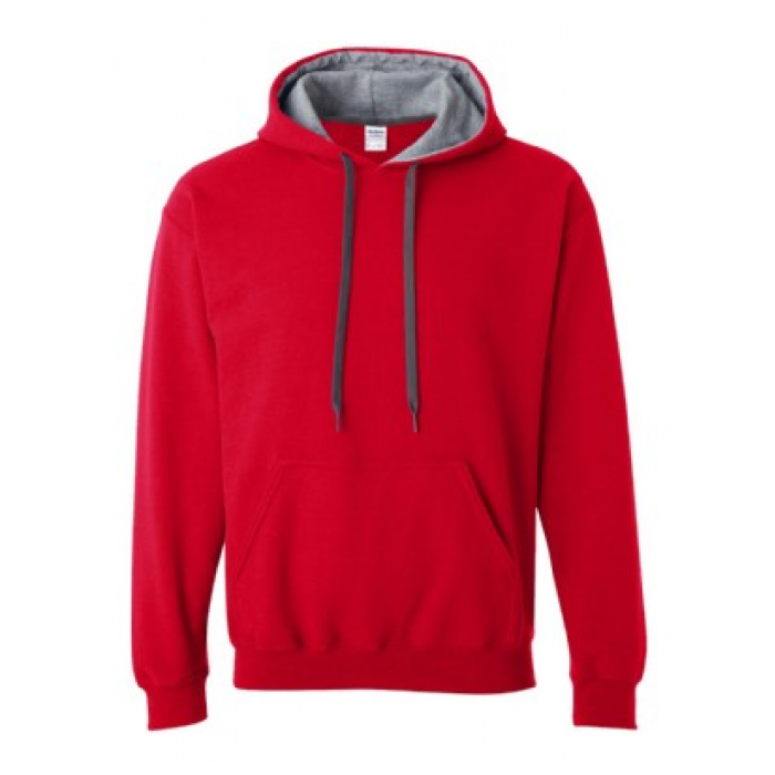 Contrast Hooded Sweatshirt - Adult