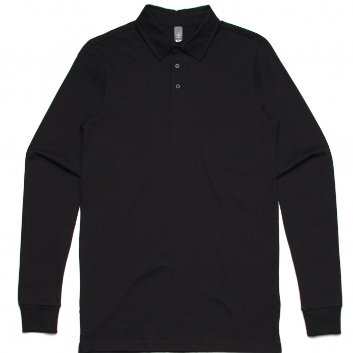 Black Chad Long Sleeve Polo