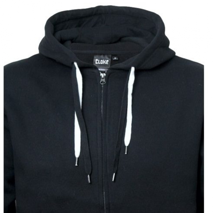 Double Drawcord Zip Hood