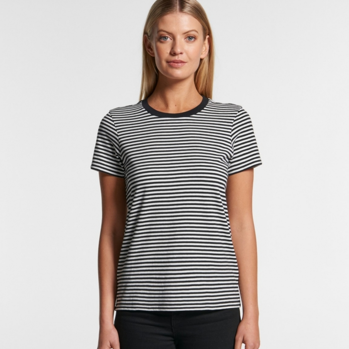 2019 4060 Womens Bowery Stripe Tee Model