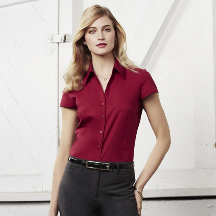 Ladies Metro Cap/S Stretch Shirt
