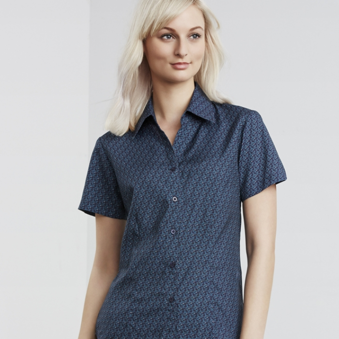 Oasis Ladies Printed S/S Shirt