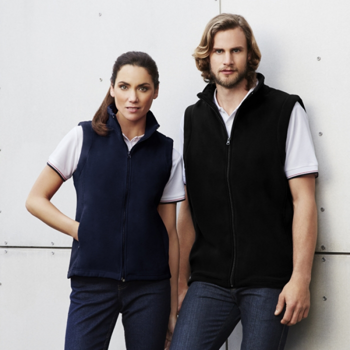 Plain Microfleece Vest - Ladies