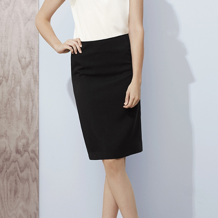 Womens Bandless Lined Skirt