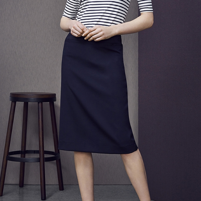 Wool Stretch Relaxed Fit Skirt - Ladies