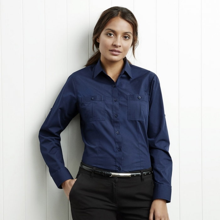 Bondi Roll Up L/S Shirt - Ladies