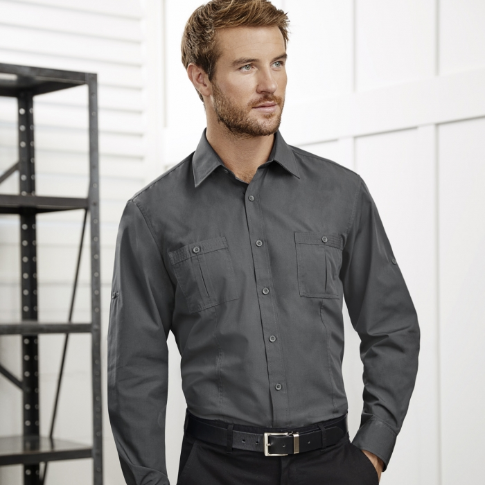 Bondi Roll up L/S Shirt - Mens