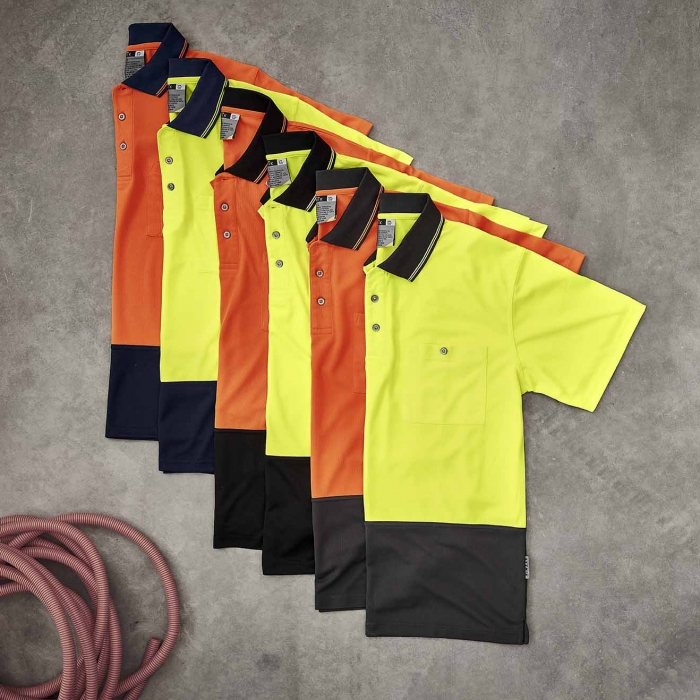 Hi Vis S/S Basic Spliced Polo - Unisex