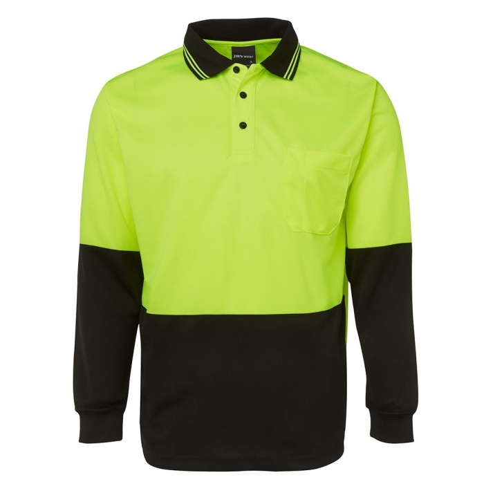Hi Vis L/S Traditional Polo